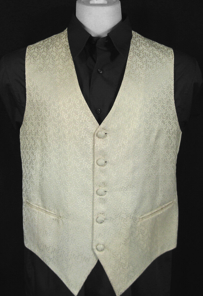 NEW  NWT  Brioni Fine Silk Formal Dress (Tuxedo) Vest  Large  Paisley  ITALY