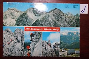 Carte Postale Vue Carte Saxe Mindelheimer Kletterteig-afficher Le Titre D'origine Emballage Fort