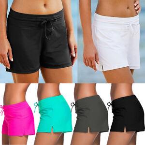 Women-Surf-Boardshorts-Swim-Board-Shorts-Drawstring-Swimwear-Sport-Beach-Pants-A