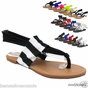 def57ff36a096a New Women Flip Flops Gladiator Lace Up Yoga Shoes Thong Flat Sling ...