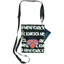 NBA Robin Ruth NY New York Knicks Canvas Crossbody Neck Wallet Women Ladies Bag