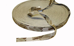 """Double Sided Crye Multicam ARID Camouflage Military Spec 25mm / 1"""" Webbing"""