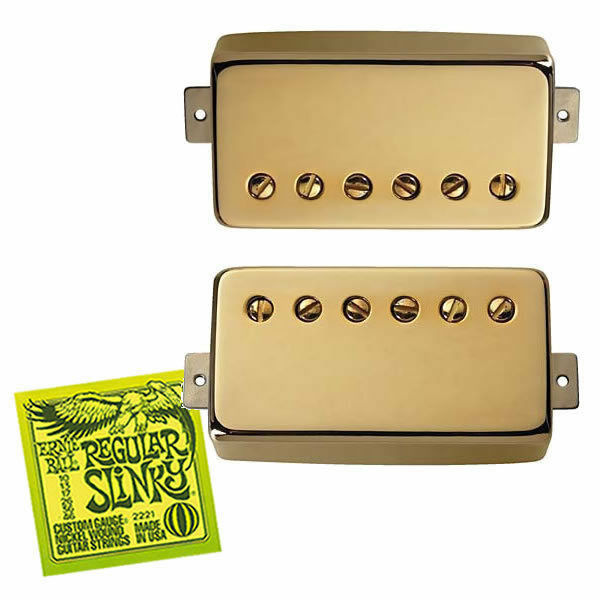 Seymour Duncan SH-55 Seth Lover Humbucker Set Gold FREE Ernie Ball Strings