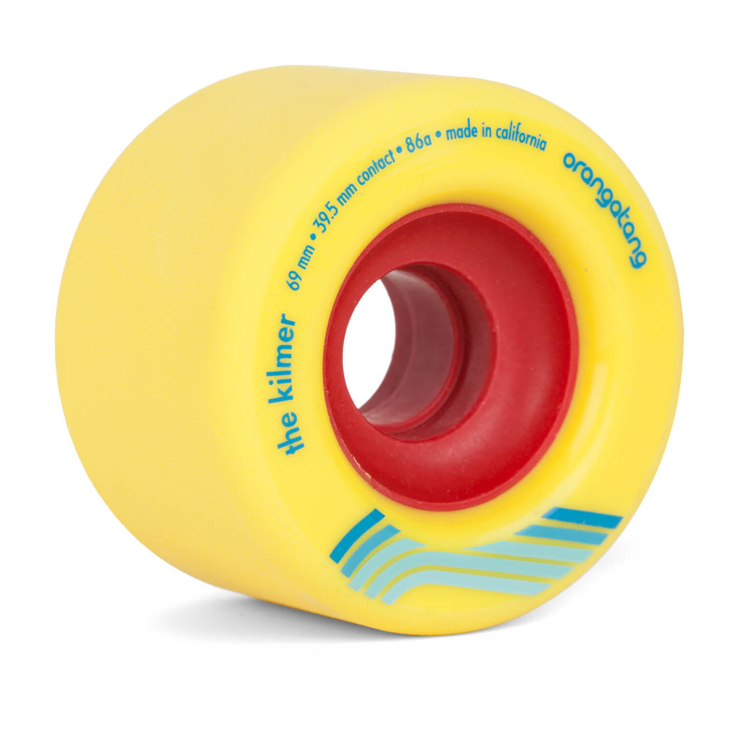 Orangatang the Kilmer Longboard Wheels 69 mm 86A Yellow Freestyle Slidewheels