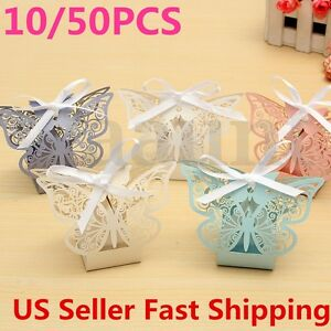 Image Is Loading 10 50Pcs Paper Butterfly Cut Candy Cake Boxes