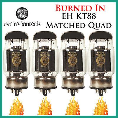 Quartet Four Tubes*Burned In* New 4x Electro Harmonix KT88Matched Quad