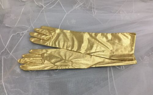 "15.5/"" Metallic Gloves Adult Elbow Length."