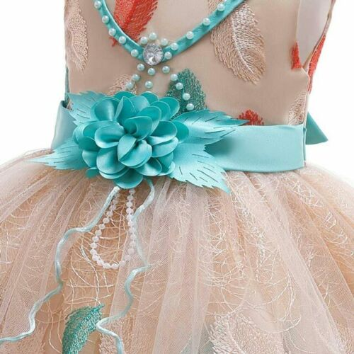 Lace Flower Girl Tutu Dress Birthday Bridesmaid Party Formal Princess Dresses