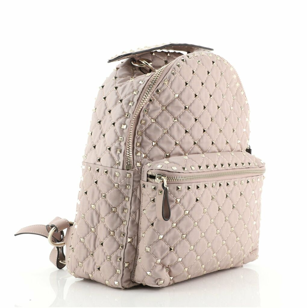 Valentino Rockstud Spike Backpack Quilted Nylon Small  | eBay