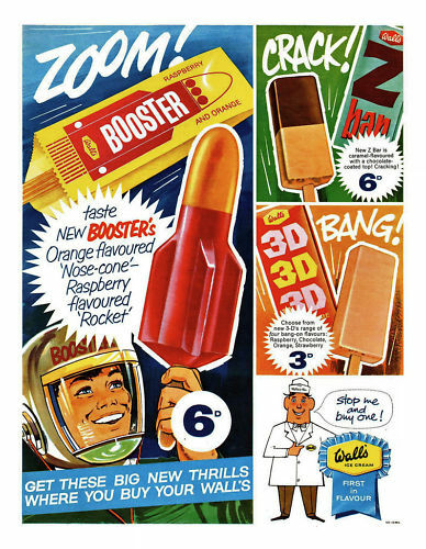 1960/'s Walls Ice Lolly Ad A3 Poster Reprint