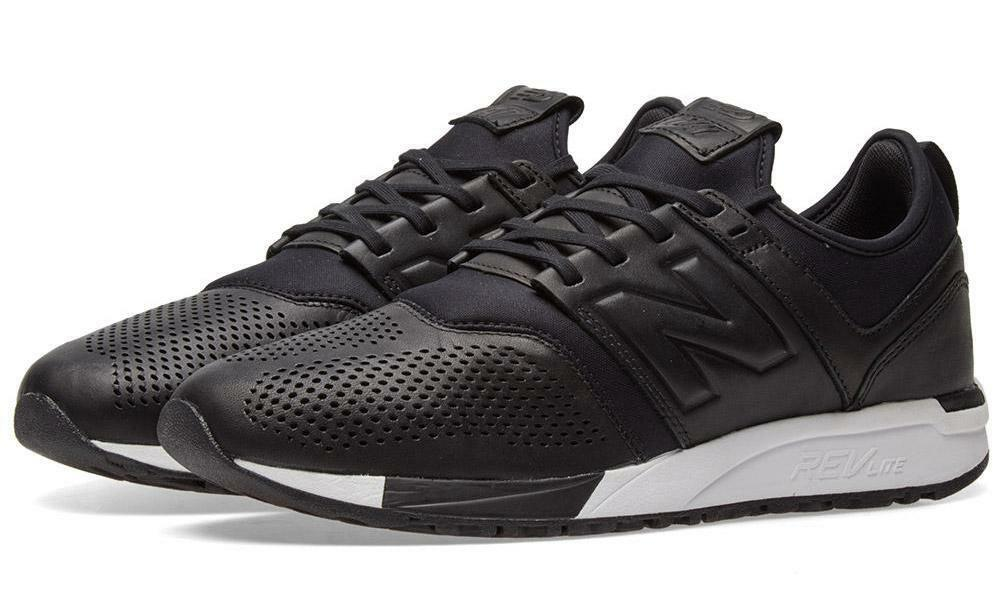 New Balance 247 Leather Homme Athletic Sneaker Lifestyle Chaussures MRL247VE, Noir