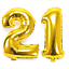 21st-Helium-Foil-Birthday-Anniversary-Balloon-32-034-Or-40-034 thumbnail 2