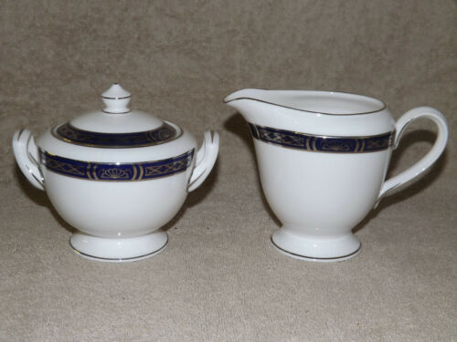 Royal Worcester Mountbatten Platinum Creamer /& Sugar Set