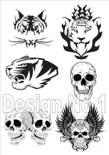 Tiger Skull Wings Celtic Patterns 118 Parchment Craft Template