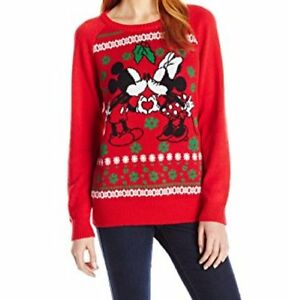 Disney Christmas Sweater with Mickey and Minnie Cute to Be Ugly ...