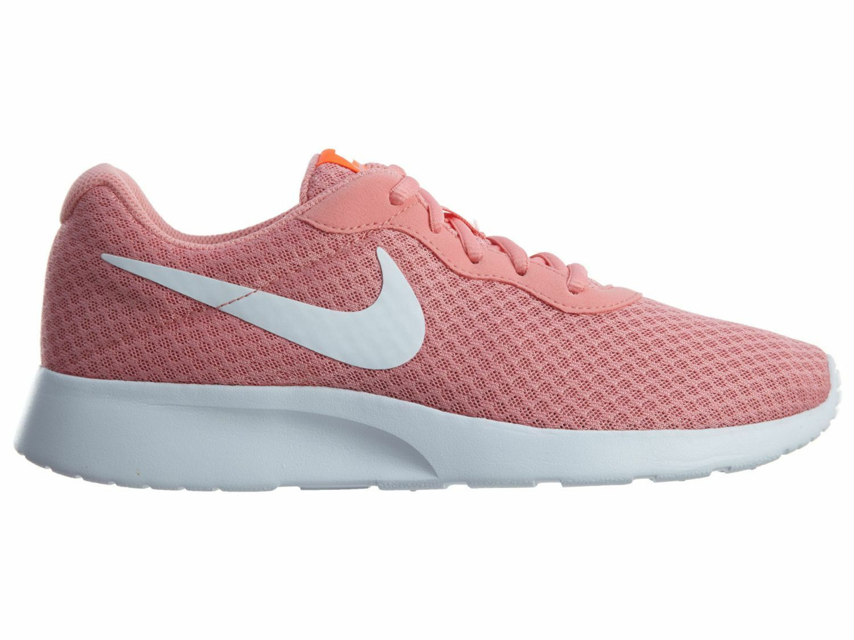 Nike Tanjun Womens 812655-600 Lava Glow White Mesh Running Shoes Wmns Size 6