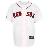 NWT Majestic Boston Red Sox Mens Big & Tall Replica White Applique Jersey: 3X/4X