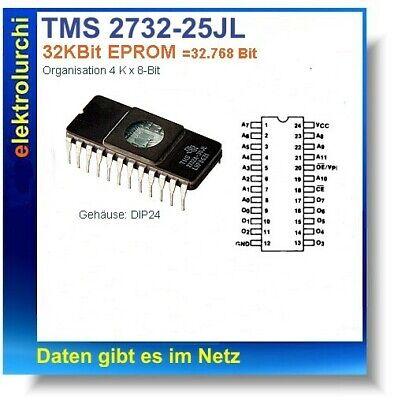 dip24 1st. 32 Kbits UV EPROM Tms2732-25jl Texas instrument TM 2732