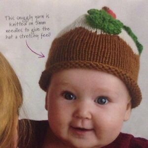 Image is loading Baby-Festive-Christmas-Pudding-Hat-Aran-KNITTING-PATTERN- 07d2429e48d1