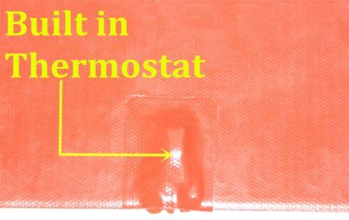 "6/"" X 16/"" 150 X 400mm 60W w// 40 C Thermostat JSR Flexible CE UL Heating Pad"