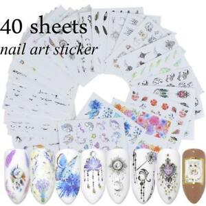 40-Sheets-DIY-Water-Transfer-Decal-Flower-Manicure-Nail-Art-Stickers-Decoration