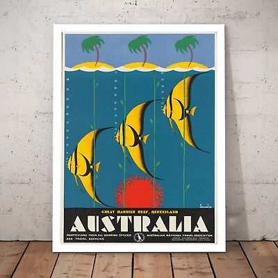 Iconic Great Barrier Reef Scenic Travel Print Limited Edition of 250 Signed Art