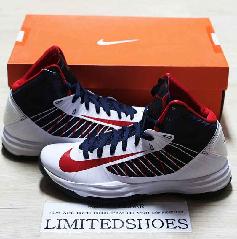 NIKE HYPERDUNK USA BLANC RED OBSIDIAN 524934-102 kobe olympics Noir pe kay yow Chaussures de sport pour hommes et femmes