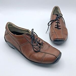 Wolky-Women-Brown-Leather-Lace-Up-Oxford-Shoe-Size-8-5-EUR-39-Pre-Owned
