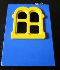 Lego Fabuland x637c02 Window Fenêtre Bleu Blue Jaune Yellow du 3681 3683 3666