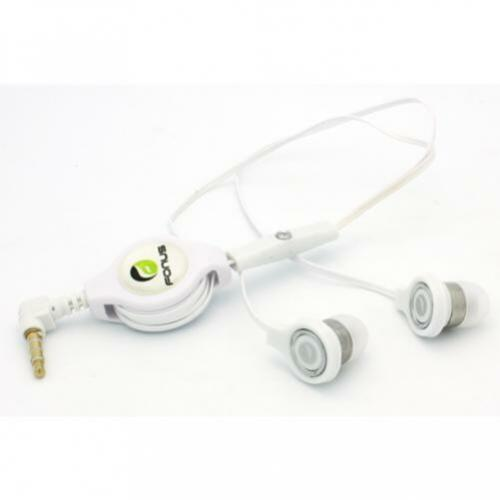 RETRACTABLE HEADSET HANDS-FREE EARPHONES w MIC DUAL EARBUDS for PHONE /& TABLETS