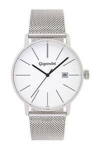Gigandet Herrenuhr Minimalism Uhr Armbanduhr Edelstahl Silber G42-005