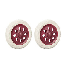 Shopping Cart Wheels Trolley Caster Replacement 65 Inch Diameter Wind Red 2pcs