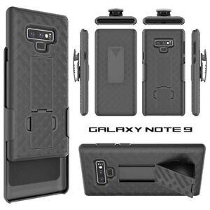 best website 8a10c e81de Details about For Samsung Galaxy Note 9 Holster Case Cover Belt Clip Stand  Slim Light Black