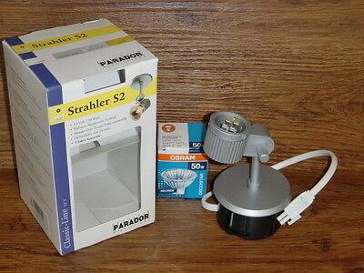 Leuchtmittel Vorsatzhalter gold Strahler PARADOR Downlight D8 50 W weiß