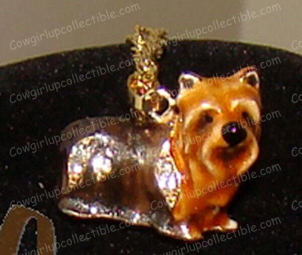 YORKShIRE Bejeweled Baked Enamel Necklace (Pedigree Dogs, 3935YN)