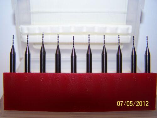 10 .0225 NEW MICRO CARBIDE DRILLS SD4 0225