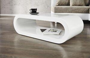 Moderner Design Couchtisch weiß hochglanz Beistelltisch RETRO CUBE ...