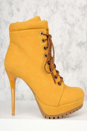 Black Taupe Mustard Strappy Platform Chunky High Heels Nubuck Booties Velvet