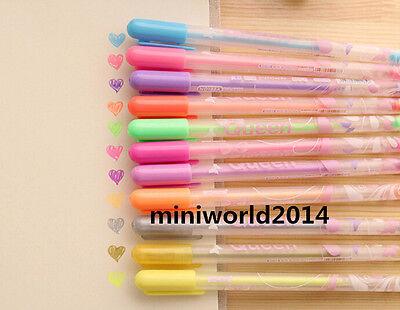 12 PCS Fashion Korean Lovely Candy Jam Pen Glitter Pen Gel Pen 12 Colors-0.8mm