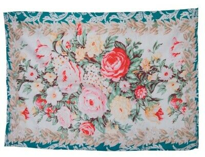 Victorian Trading Co Tea Towel/'s Spring Offerings Pink Roses /& Aqua