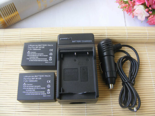 Charger for Fujifilm X-T20  X-T100 Mirrorless Digital Camera 2x NP-W126 Battery