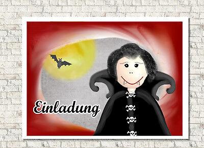 Motiv Vampir Einladungskarte Kindergeburtstag mit  Umschlag