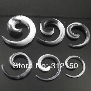 2-8mm-Dehnspirale-Dehnungsspirale-Dehnungset-Dehnstab-Expander-Schwarz-weiss