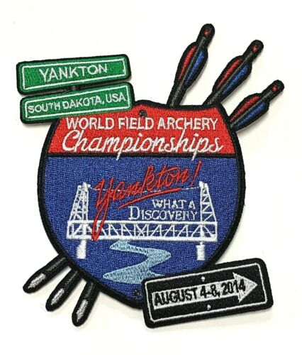2014 World Field Archery Championships Patch NFAA Yankton WFAC Souvenir