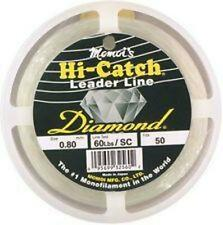 NEW Momoi Hi-Catch Mono Leader 40Lb 50Yds Clear White 51040