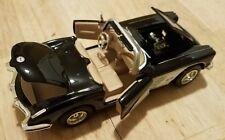 "1959 Black Corvette Convertible Classic Model Car 6.5"" x 2.5""  1/24 Die Cast"