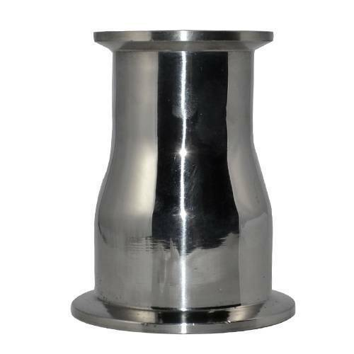 """OD 51MM to 38MM 2"""" to 1.5/""""Sanitary Ferrule Reducer Fitting SS316 Stainless Steel"""