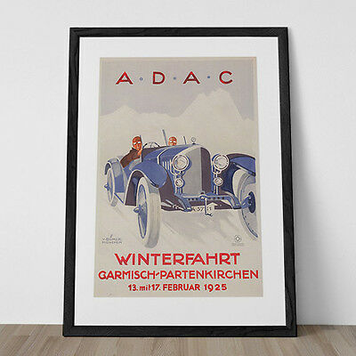 24x32 Grand Prix Suisse 1930's Motos Switzerland Vintage Style Auto Poster