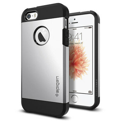 Spigen® Apple iPhone SE / 5 / 5S Case [Tough Armor] Shockproof Slim TPU Cover