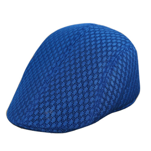 CN/_ Solid Color Breathable Mesh Beret Sun Cap Man Woman Outdoor Sports Hat Sof